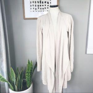 Barefoot Dreams Bamboo chic lite cream cardigan XL